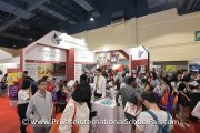 The crowd at the Sri Bestari International School booth