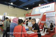 Visitors at the Sunway International School booth