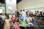 The crowd at the St. Joseph's Institution International School booth