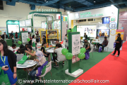 Visitors at Sayfol International School's booth