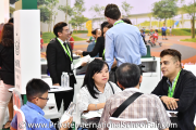 Parents seeking information at Sayfol International School's booth