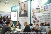 Visitors at St. Joseph's Institution International School Malaysia's booth