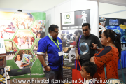 Parents speaking to a representative from Marefat International School