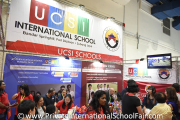 The crowd at UCSI International School's booth