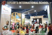 Visitors at Taylor's International School's booth