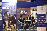 Visitors at the Epsom College in Malaysia booth