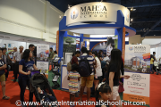 Visitors at the MAHSA International School booth