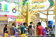 The crowd at the Dwi Emas International School booth