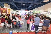 The crowd at the Taylor's International School booth