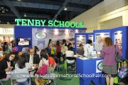 The crowd at the Tenby Schools booth