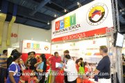 The crowd at the UCSI International School booth