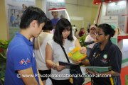 Visitors at the AISM booth