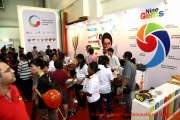 Interested parents at the Global Indian International School booth
