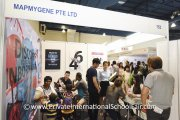 The crowd at the MapMyGene booth