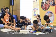 Kids participating in a My Robot activity