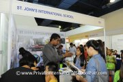 Visitors getting to know more about St. John's International School